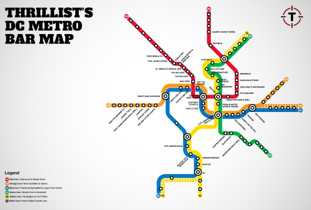 Thrillist Bar Map
