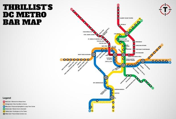 Thrillist Bar Map