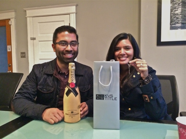 A big congratulations to my happy homeowners!